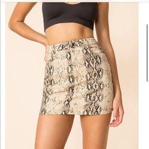 superdown Isabela Snake Print Mini Skirt